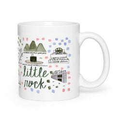 Little Rock, AR Map Mug