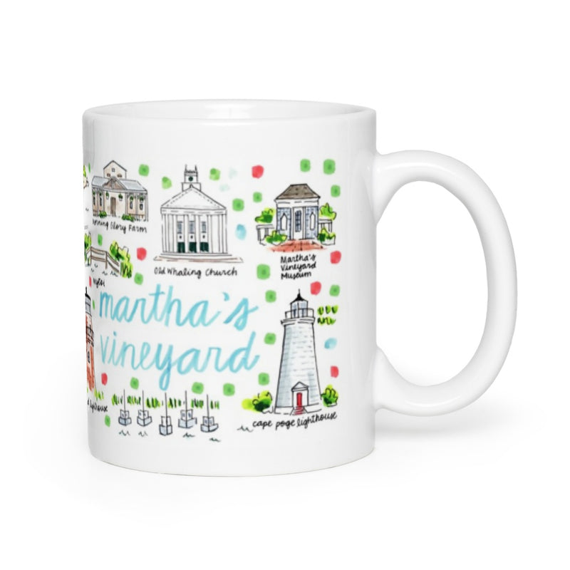 Martha's Vineyard, MA Map Mug