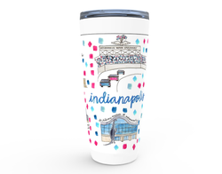 Indianapolis, IN Map Tumbler