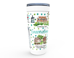 Greensboro, NC Map Tumbler