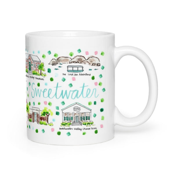 Sweetwater, TN Map Mug
