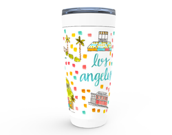Los Angeles, CA Map Tumbler