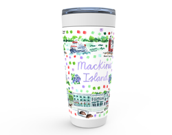 Mackinac Island Map Tumbler