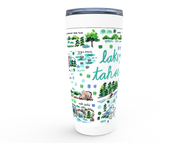 Lake Tahoe Map Tumbler