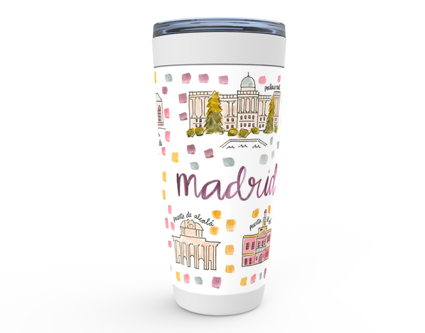 Madrid, Spain Map Tumbler