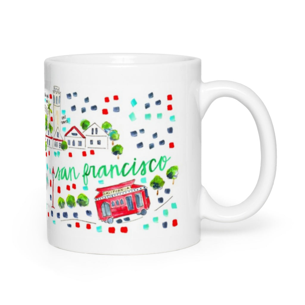 San Francisco, CA Map Mug