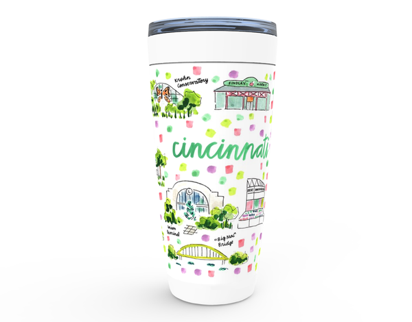 Cincinnati, OH Map Tumbler