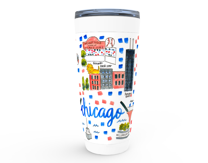 Chicago, IL Map Tumbler