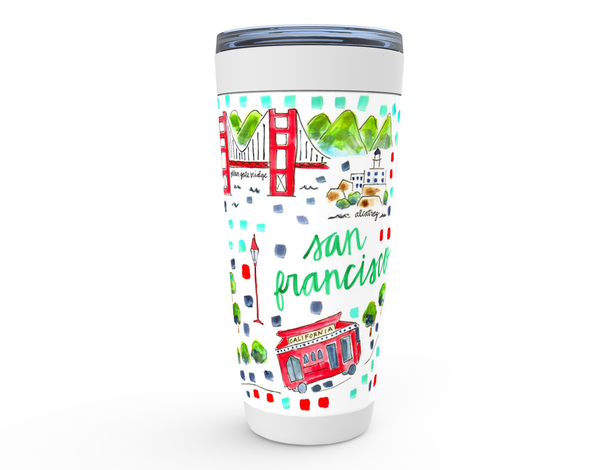 San Francisco, CA Map Tumbler