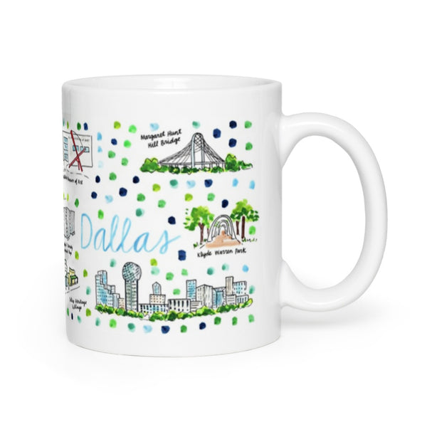 Dallas, TX Map Mug