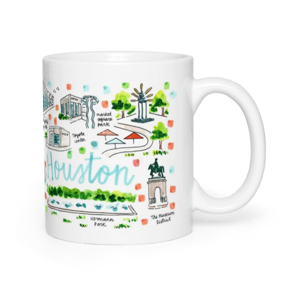 Houston, TX Map Mug