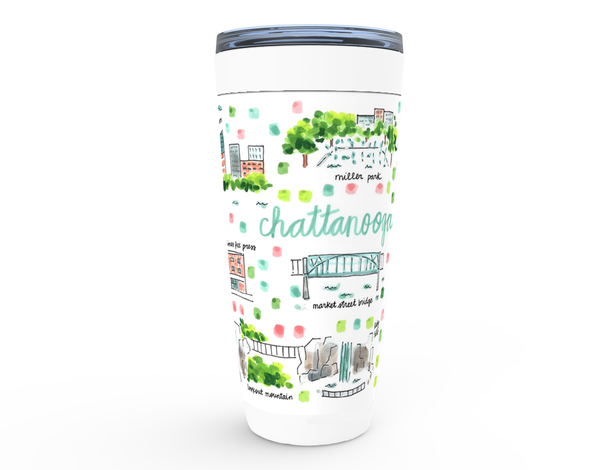 Chattanooga, TN Map Tumbler
