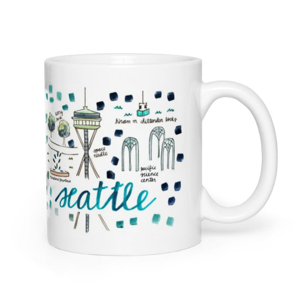 Seattle, WA Map Mug