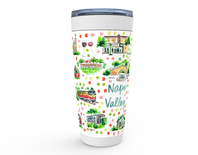 Napa Valley Map Tumbler
