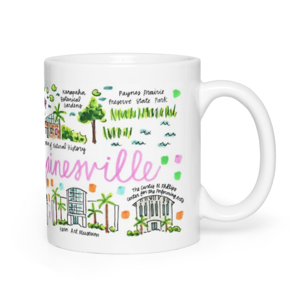 Gainesville Florida Map.Gainesville Fl Map Mug Evelyn Henson