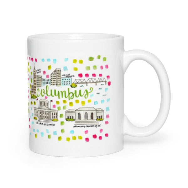 Columbus, OH Map Mug