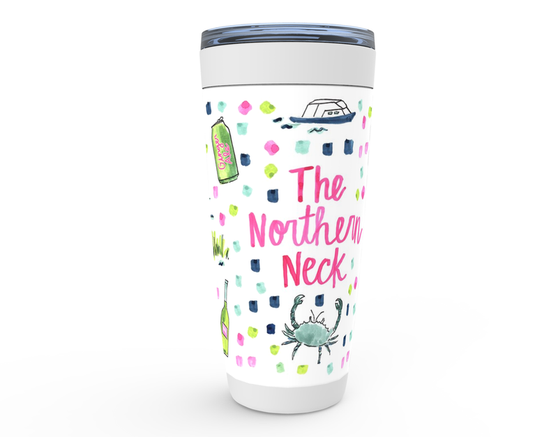 The Northern Neck, VA Map Tumbler