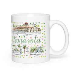 Sarasota, FL Map Mug