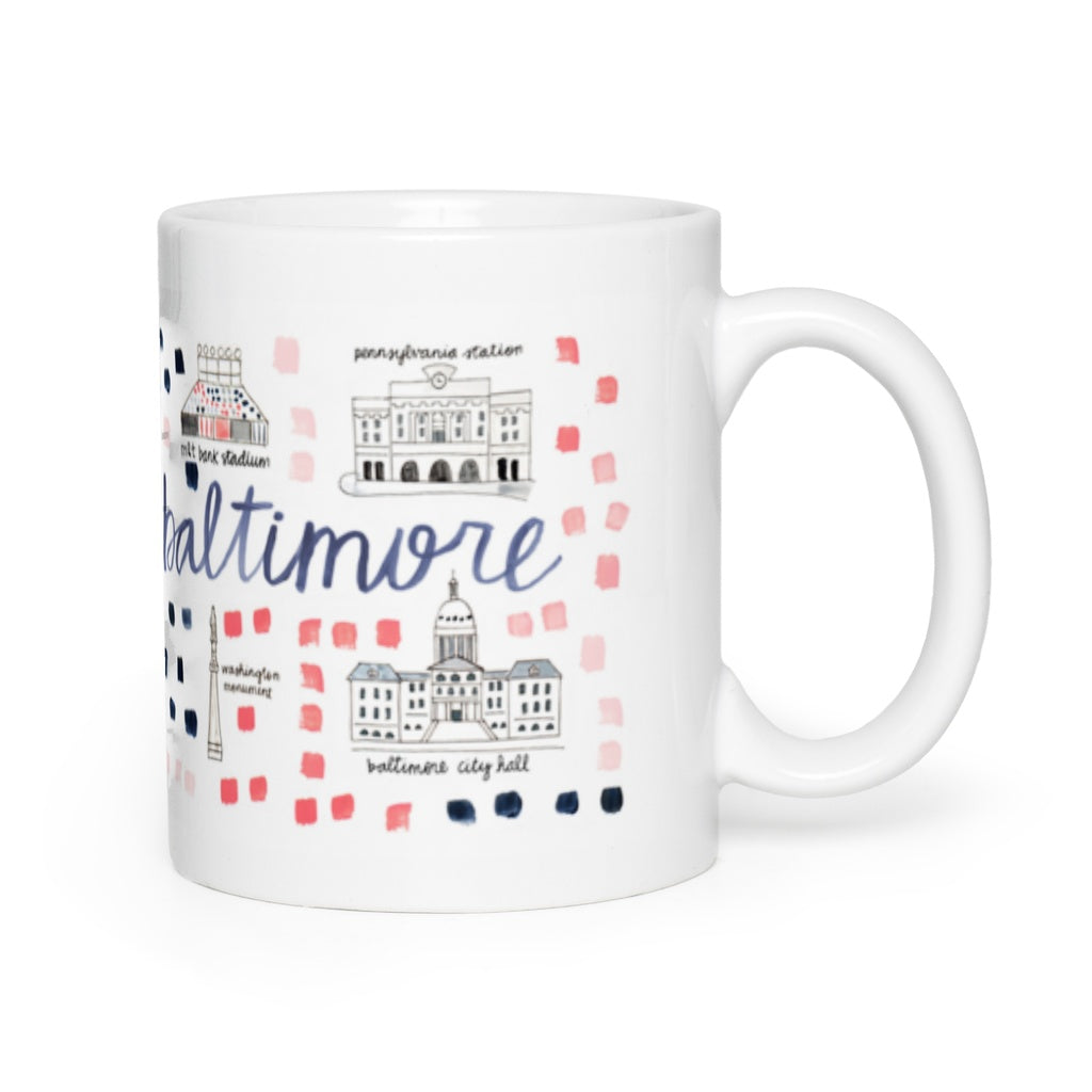Baltimore, MD Map Mug