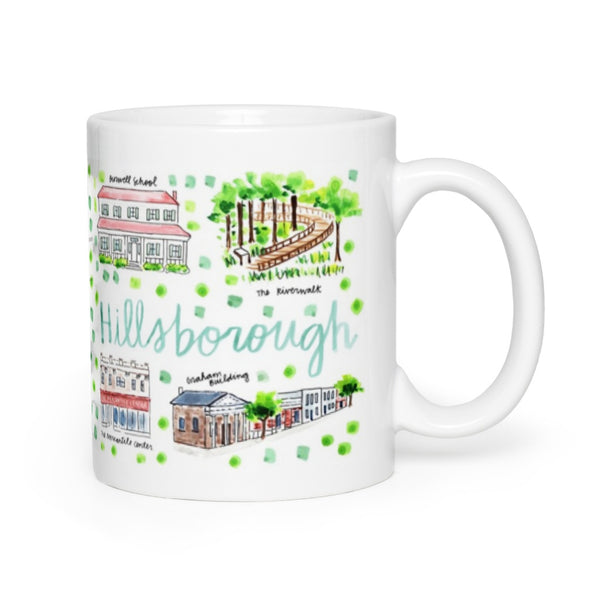 Hillsborough, NC Map Mug