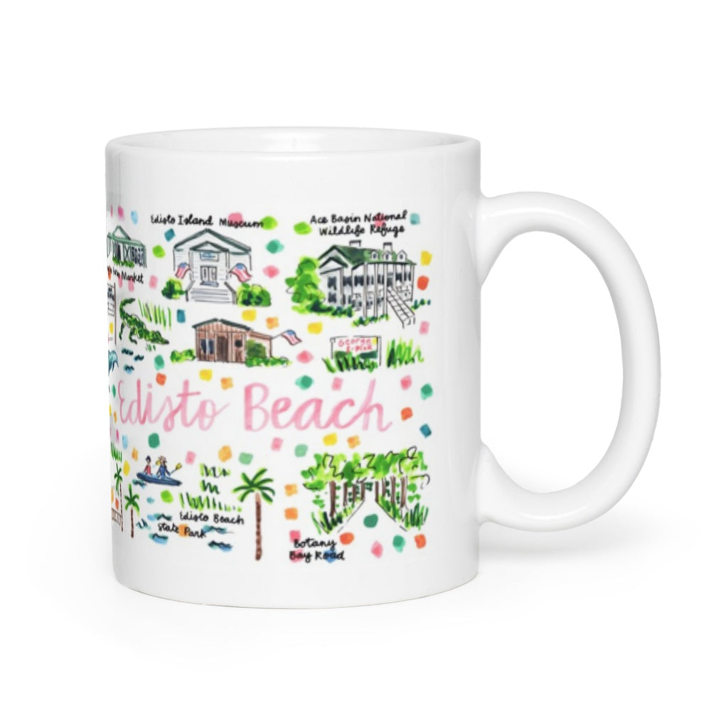 Edisto Beach, SC Map Mug