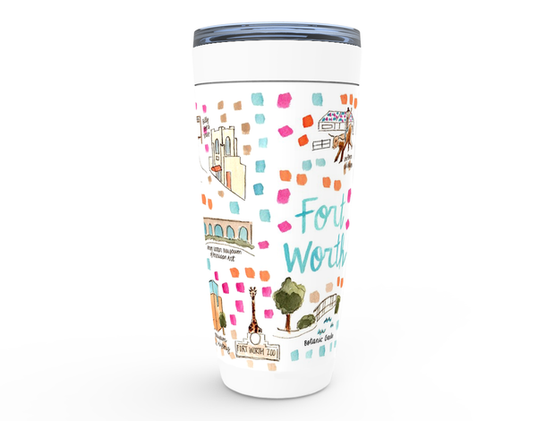 Fort Worth, TX Map Tumbler