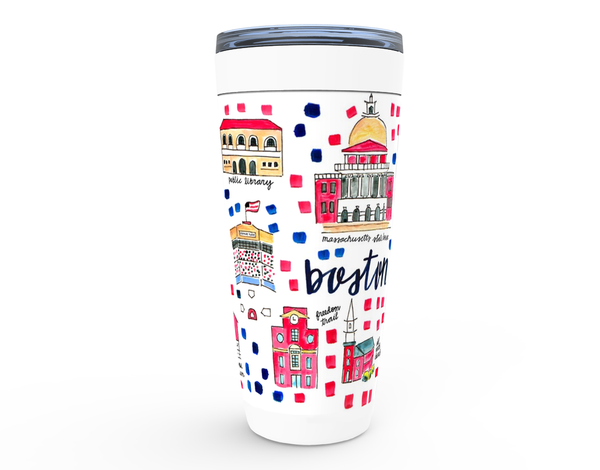 Boston, MA Map Tumbler