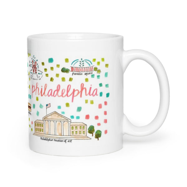 Philadelphia, PA Map Mug