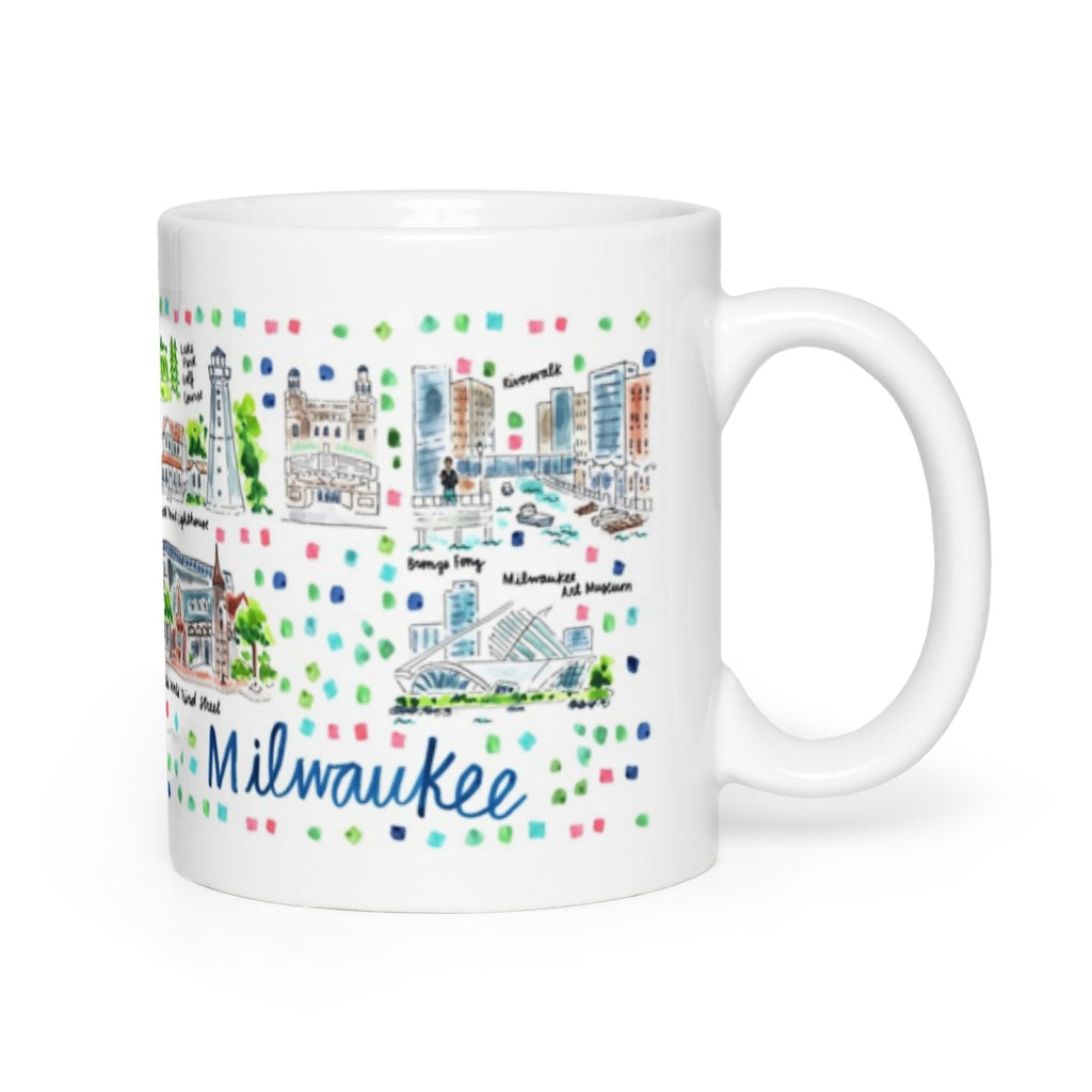 Milwaukee, WI Map Mug