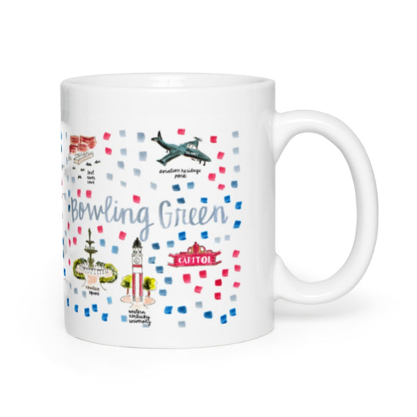Bowling Green, KY Map Mug