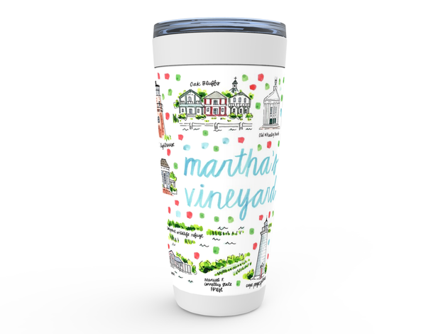 Martha's Vineyard, MA Map Tumbler