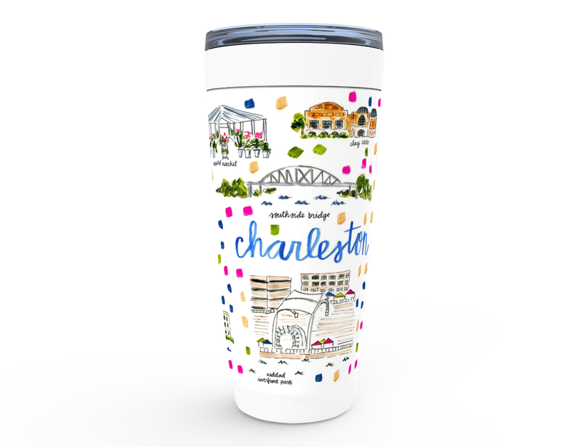 Charleston, WV Map Tumbler