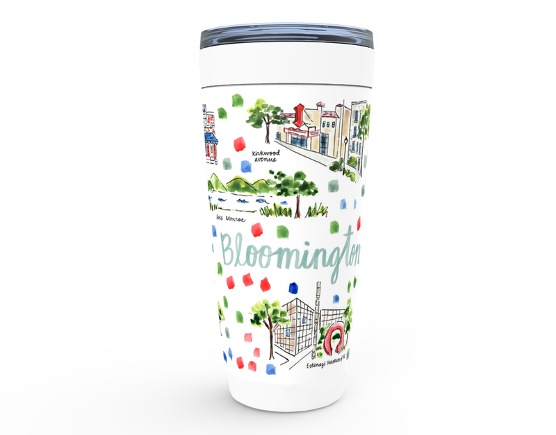 Bloomington, IN Map Tumbler