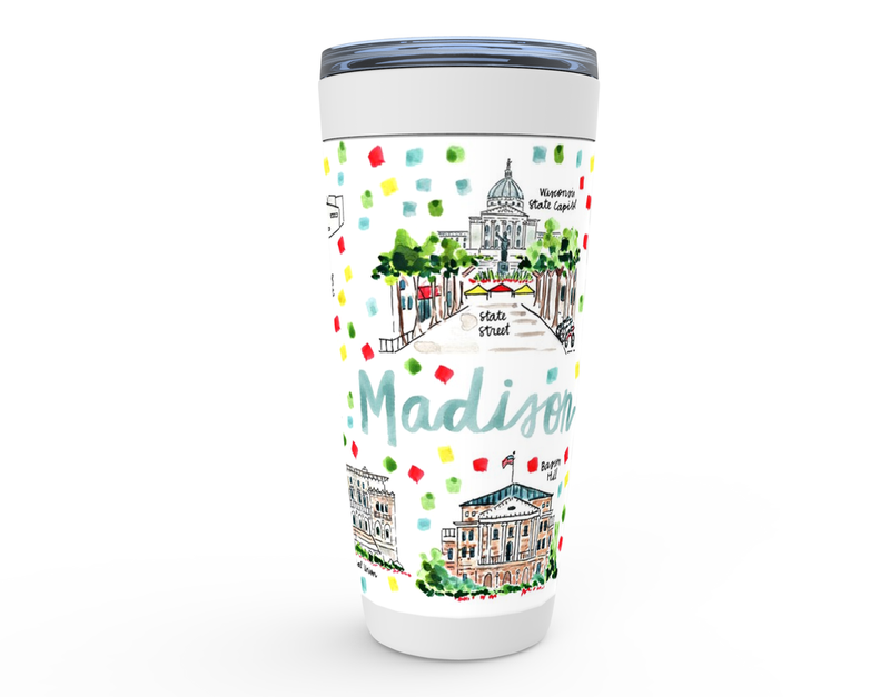 Madison, WI Map Tumbler