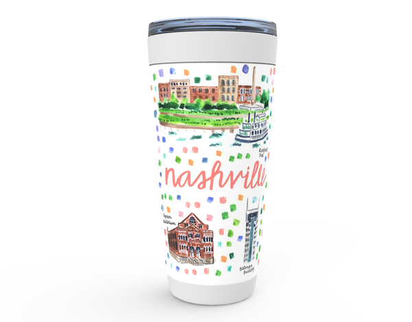 Nashville, TN Map Tumbler