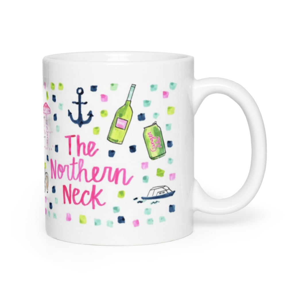 Northern Neck, VA Map Mug