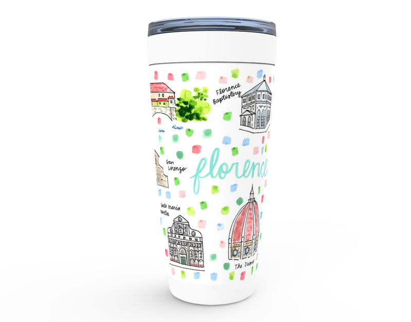 Florence, Italy Map Tumbler