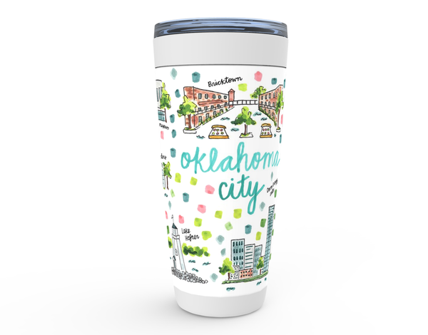 Oklahoma City, OK Map Tumbler
