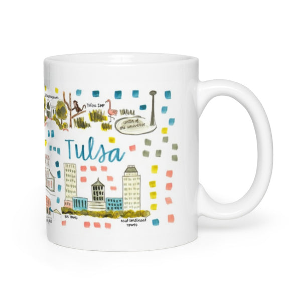 Tulsa, OK Map Mug