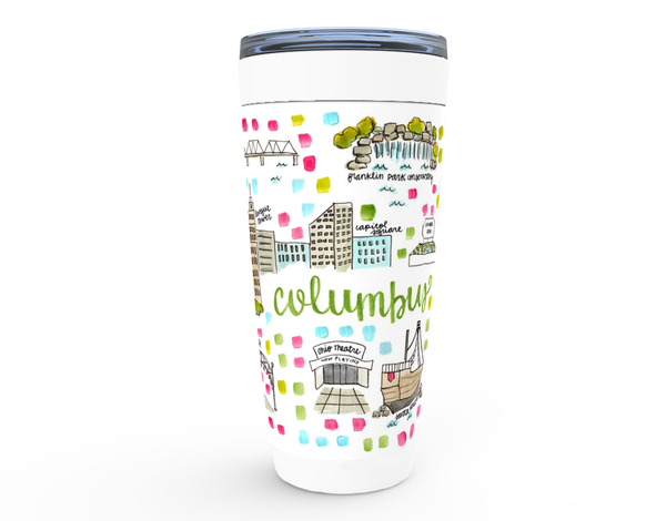 Columbus, OH Map Tumbler