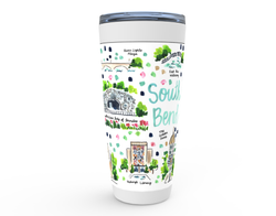 South Bend, IN Map Tumbler