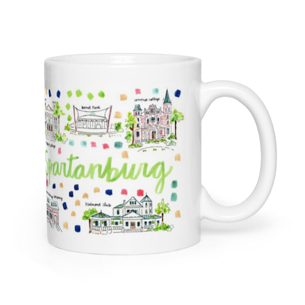 Spartanburg, SC Map Mug