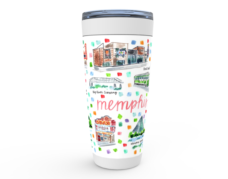 Memphis, TN Map Tumbler