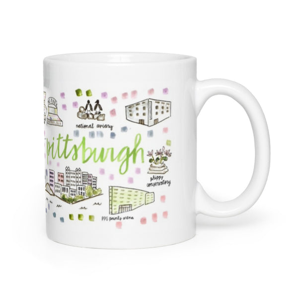 Pittsburgh, PA Map Mug