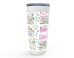 Palm Beach, FL Map Tumbler