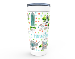 Houston, TX Map Tumbler