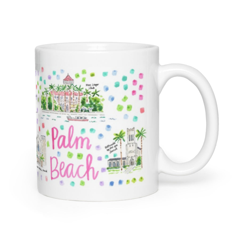 Palm Beach, FL Map Mug