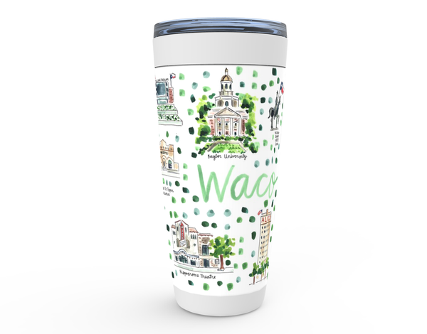 Waco, TX Map Tumbler