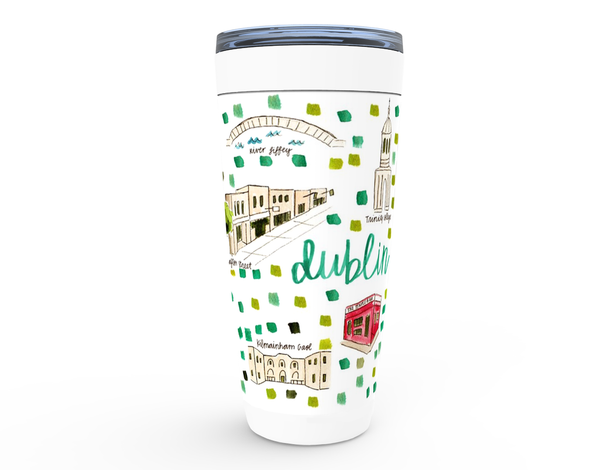 Dublin, Ireland Map Tumbler