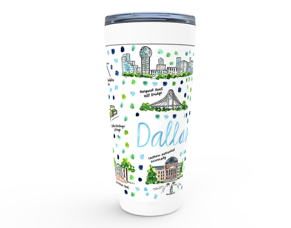 Dallas, TX Map Tumbler